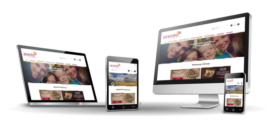 WordPress Deluxe. Referencias. ARENTO. Website corporativo. Responsive