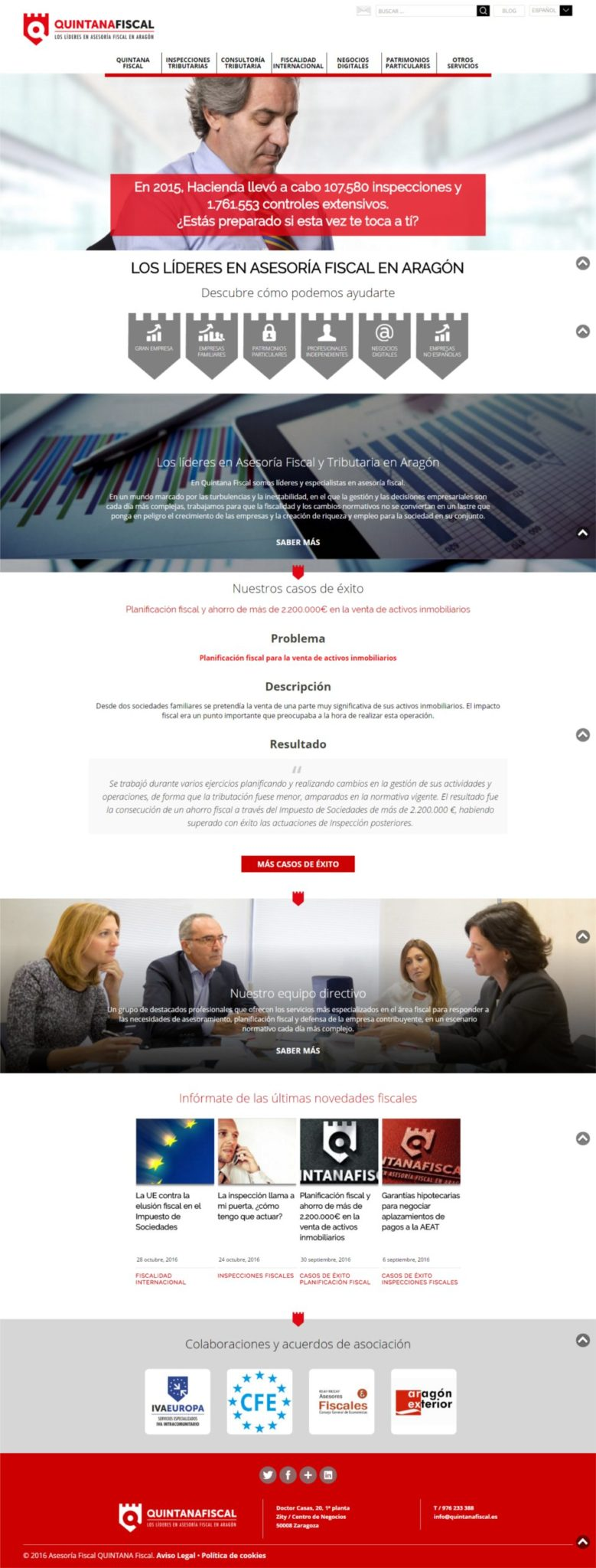 Quintana Fiscal. Renovación del Website desde cero con WordPress