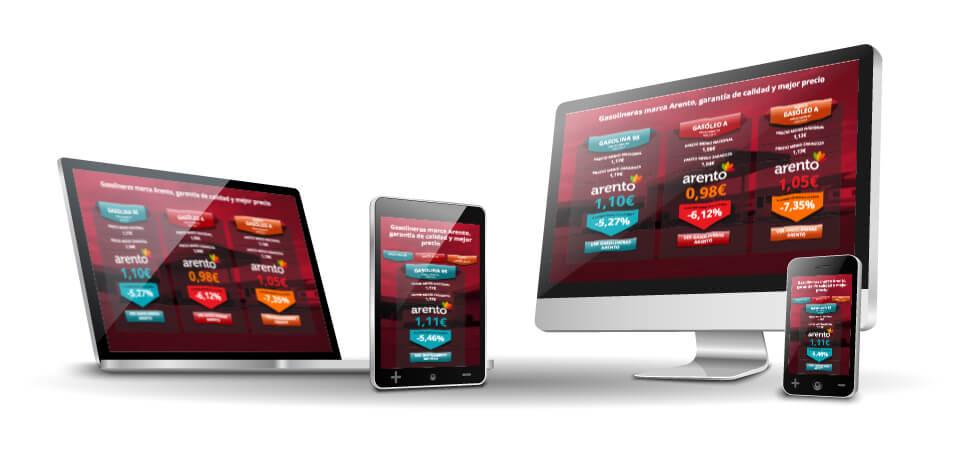 WordPress Deluxe. Referencias. ARENTO. Aplicación control precios gasolineras. Integración externa