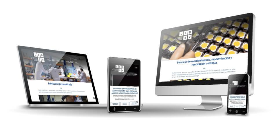 WordPress Deluxe. Casos de éxito. Websites desde cero. LED5V. Responsive