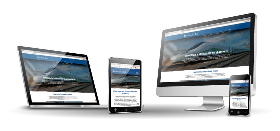 WordPress Deluxe. Casos de éxito. Websites desde cero. GALLIZO. Responsive