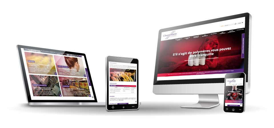 WordPressDeluxe. Diseño web WordPress. Referencias. Chemieuro & Total Petrochemicals. Responsive
