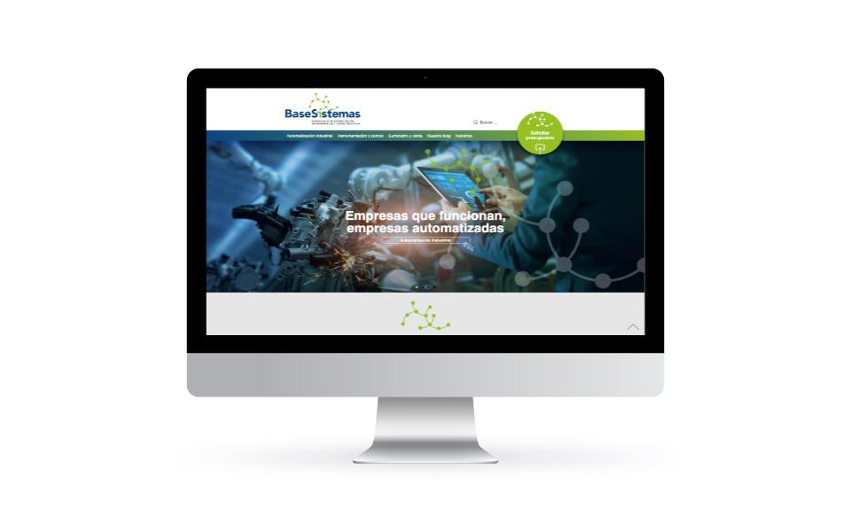 Base Sistemas, nuevo website corporativo. Desktop. Alta