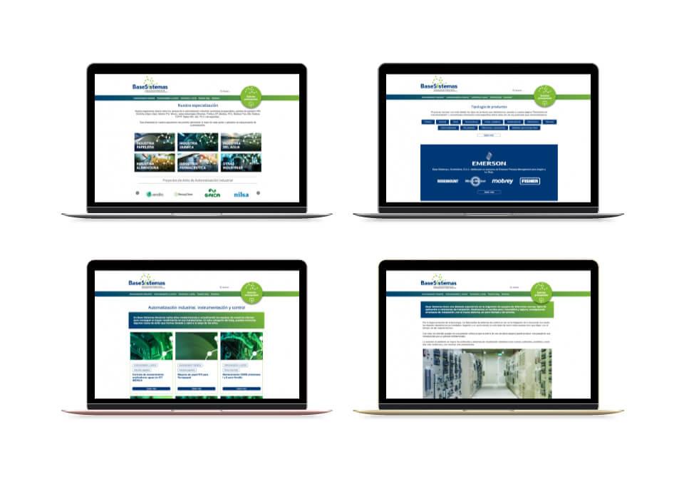 Base Sistemas, nuevo website corporativo. Laptop