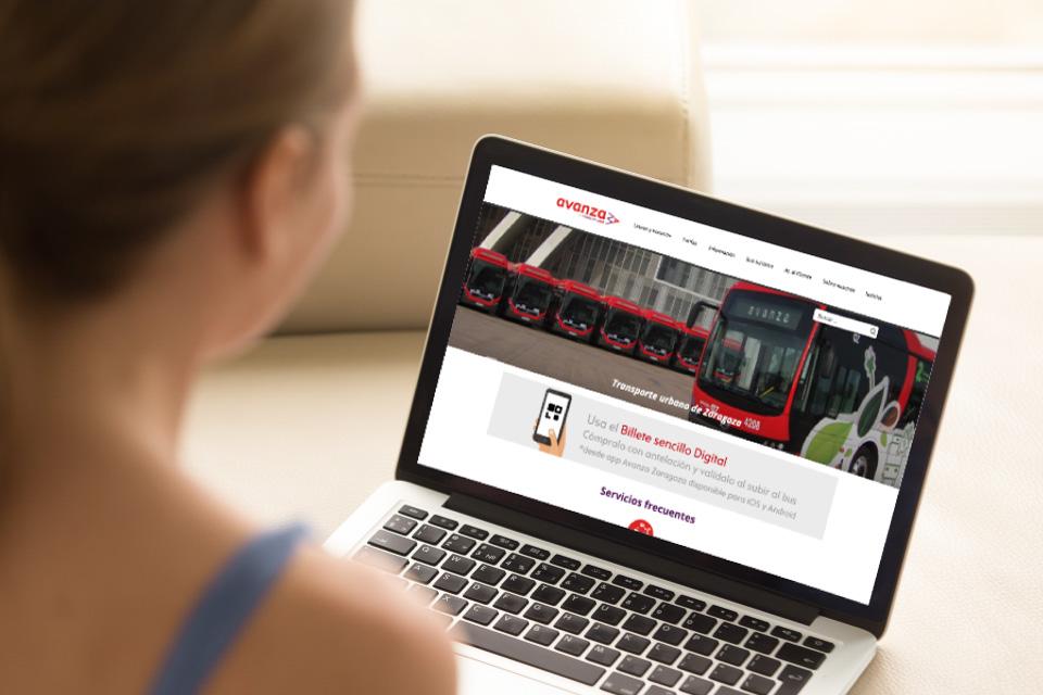 WordPressDeluxe. Casos de éxito. Avanza. Homepage
