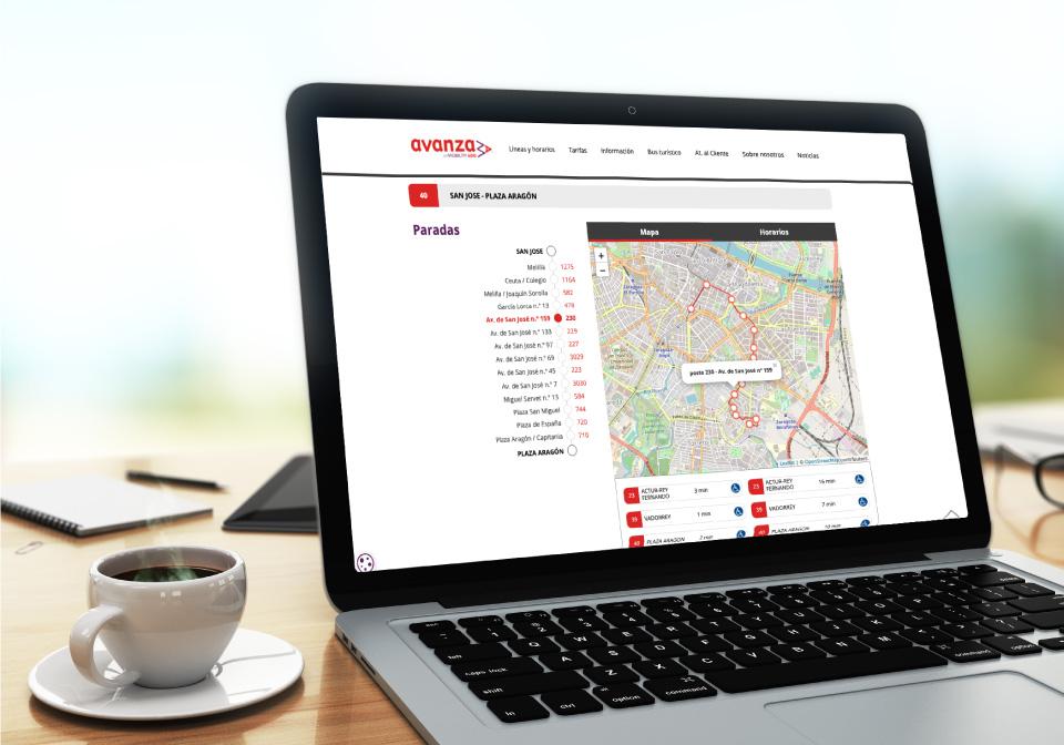 WordPressDeluxe. Casos de éxito. Avanza. OpenStreetMaps